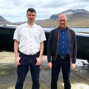 Hjalmar og Søren Hjort
